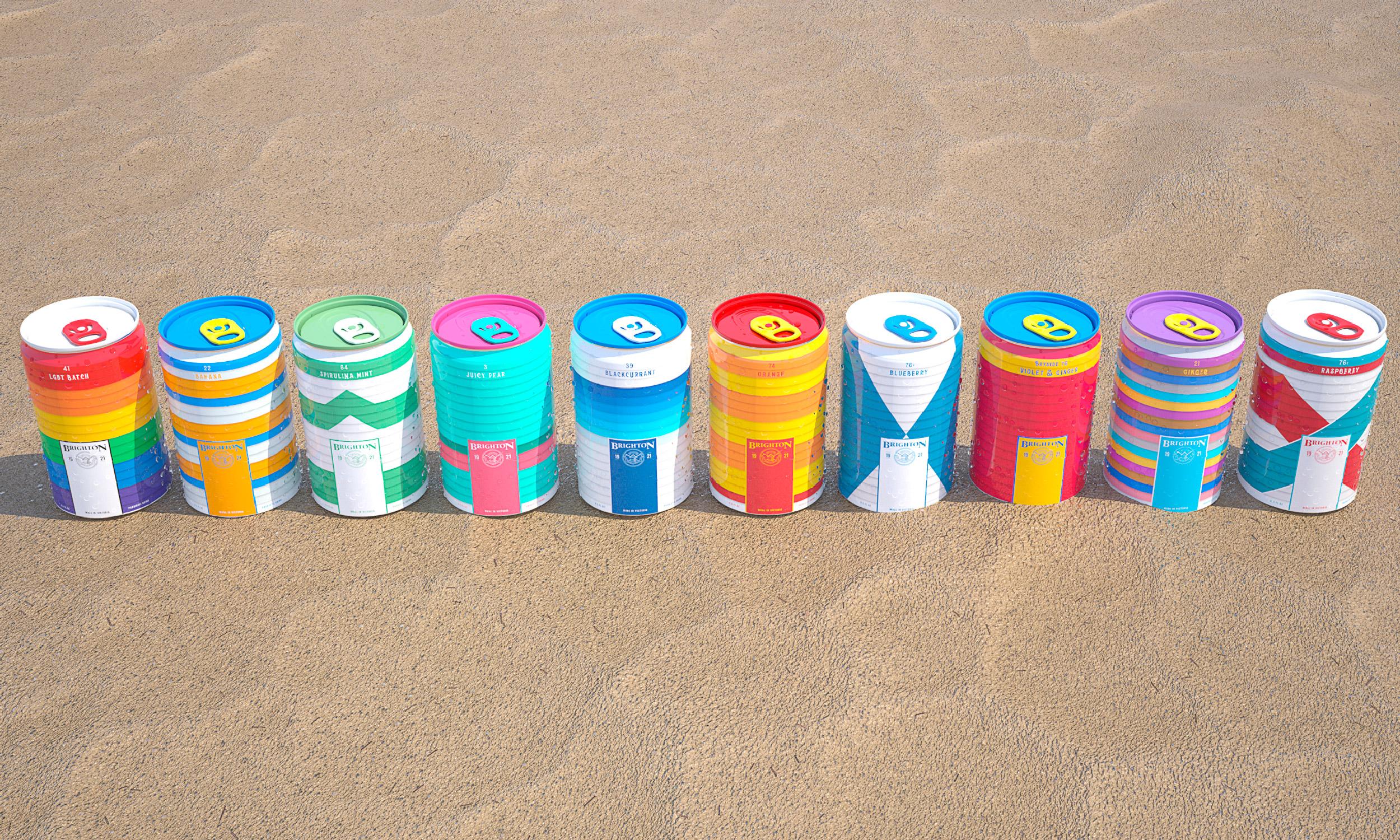 Full Brighton Soda range