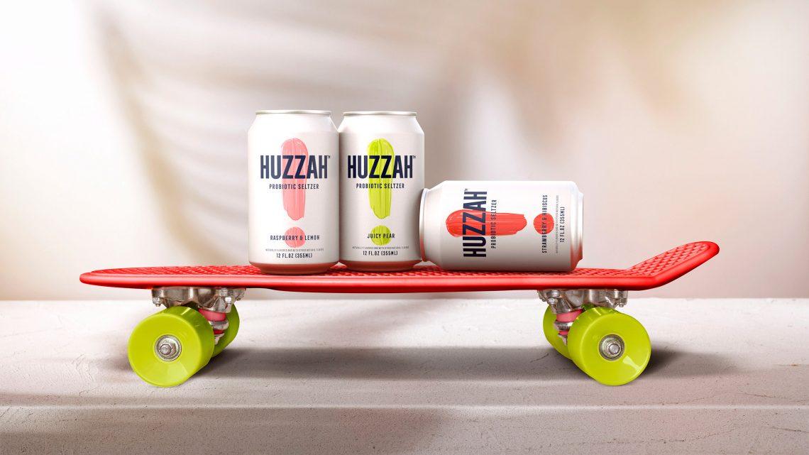 Huzzah probiotic seltzer sur skate
