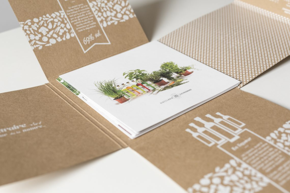 Craft brochure with leaflets
