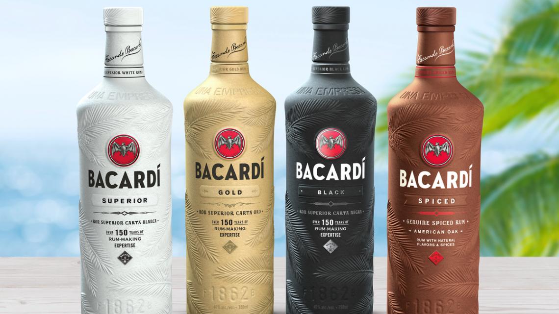Bouteille papier Bacardi