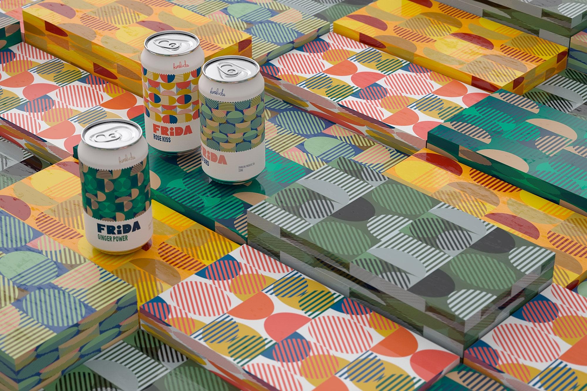 Packagings Frida Kombucha