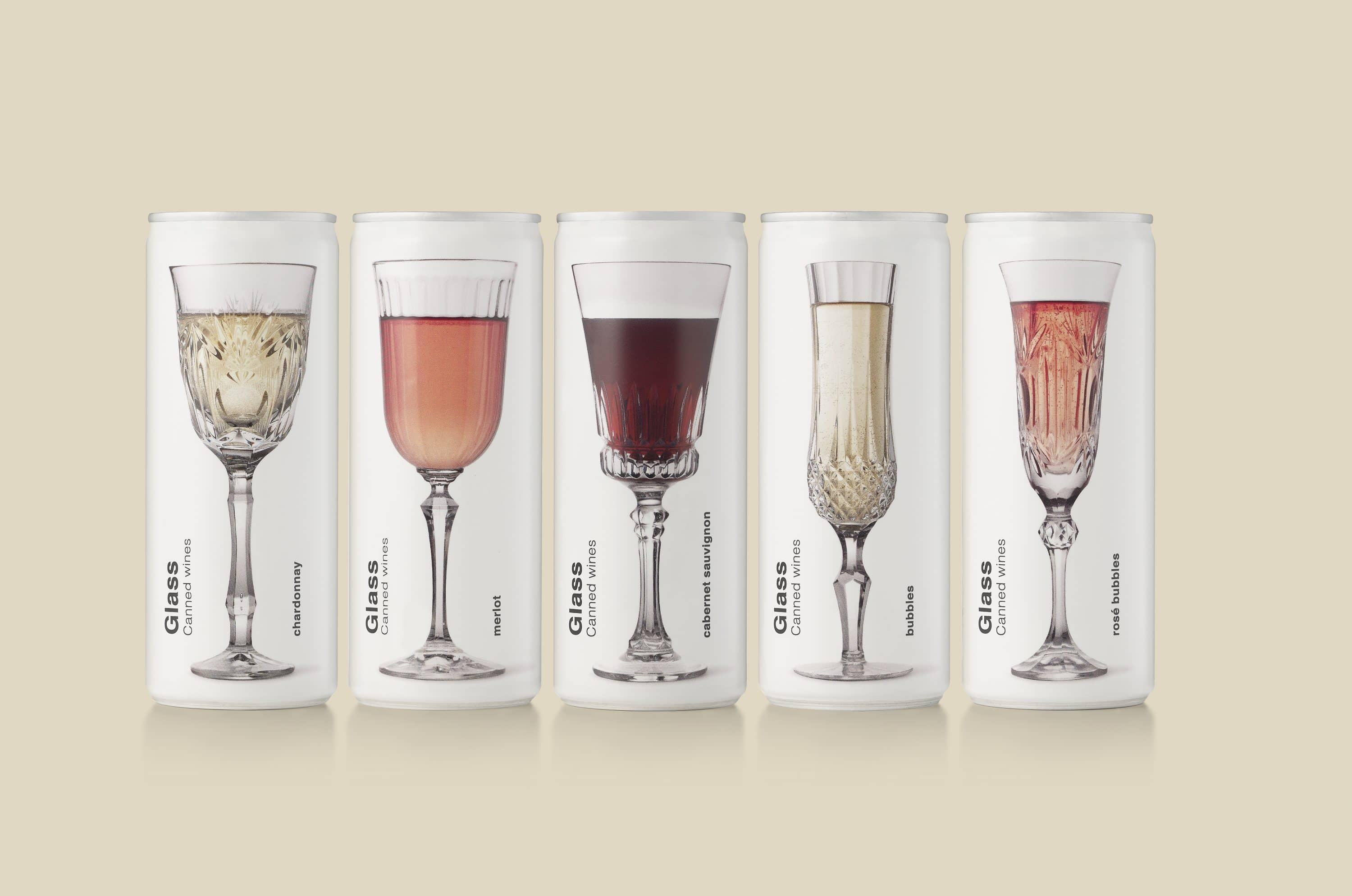 Glass canned wines