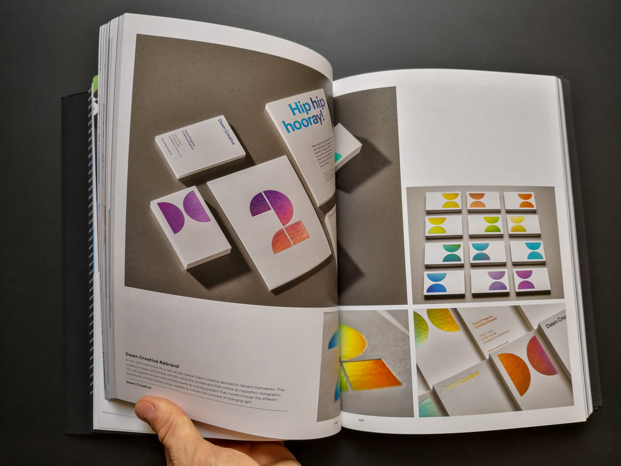 Palette 08 : Iridescent. Dawn Creative Rebrand