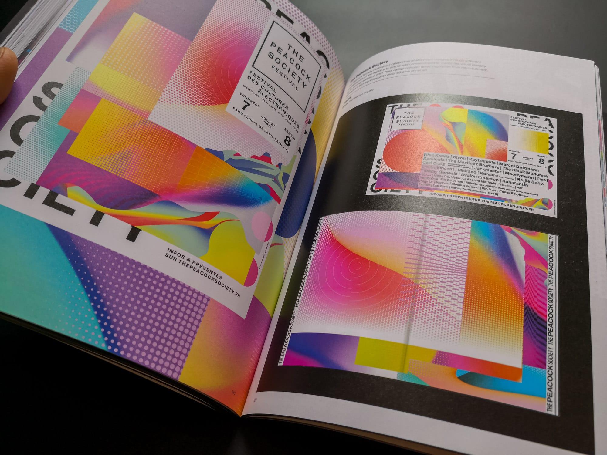 Design holographique pour un festival The Peacock Society Festival