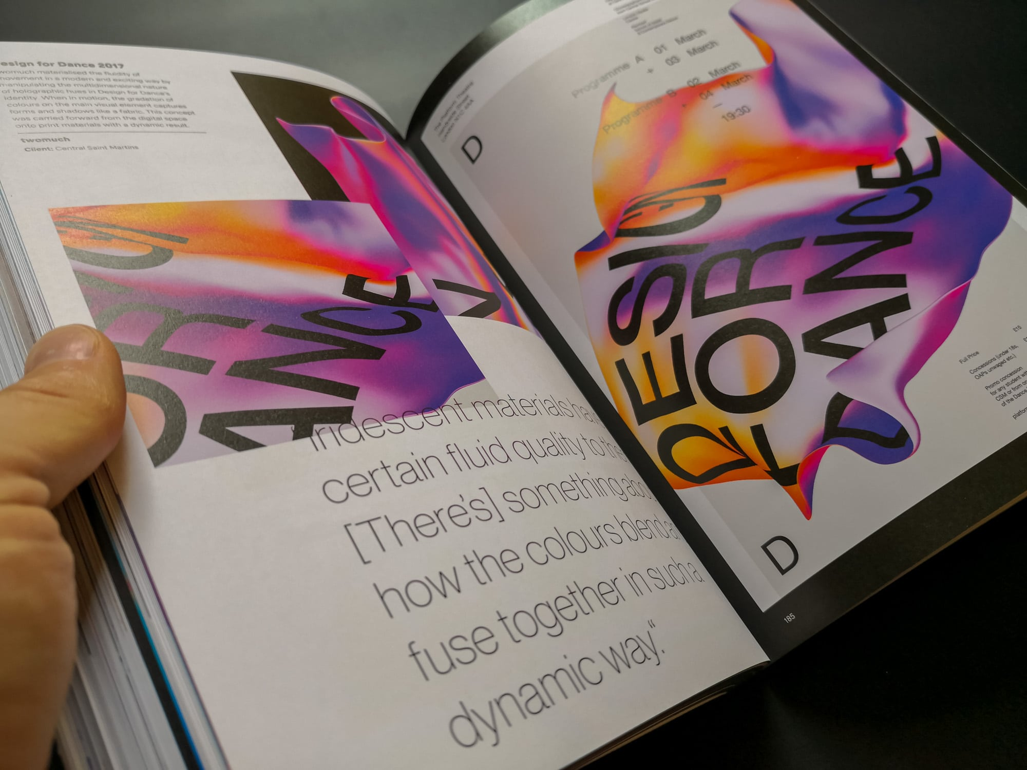 Palette 08 : Iridescent. Design for Dance 2017