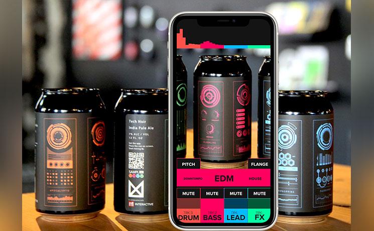 SamplAR application réalité augmentée pour la marque Tech Noir