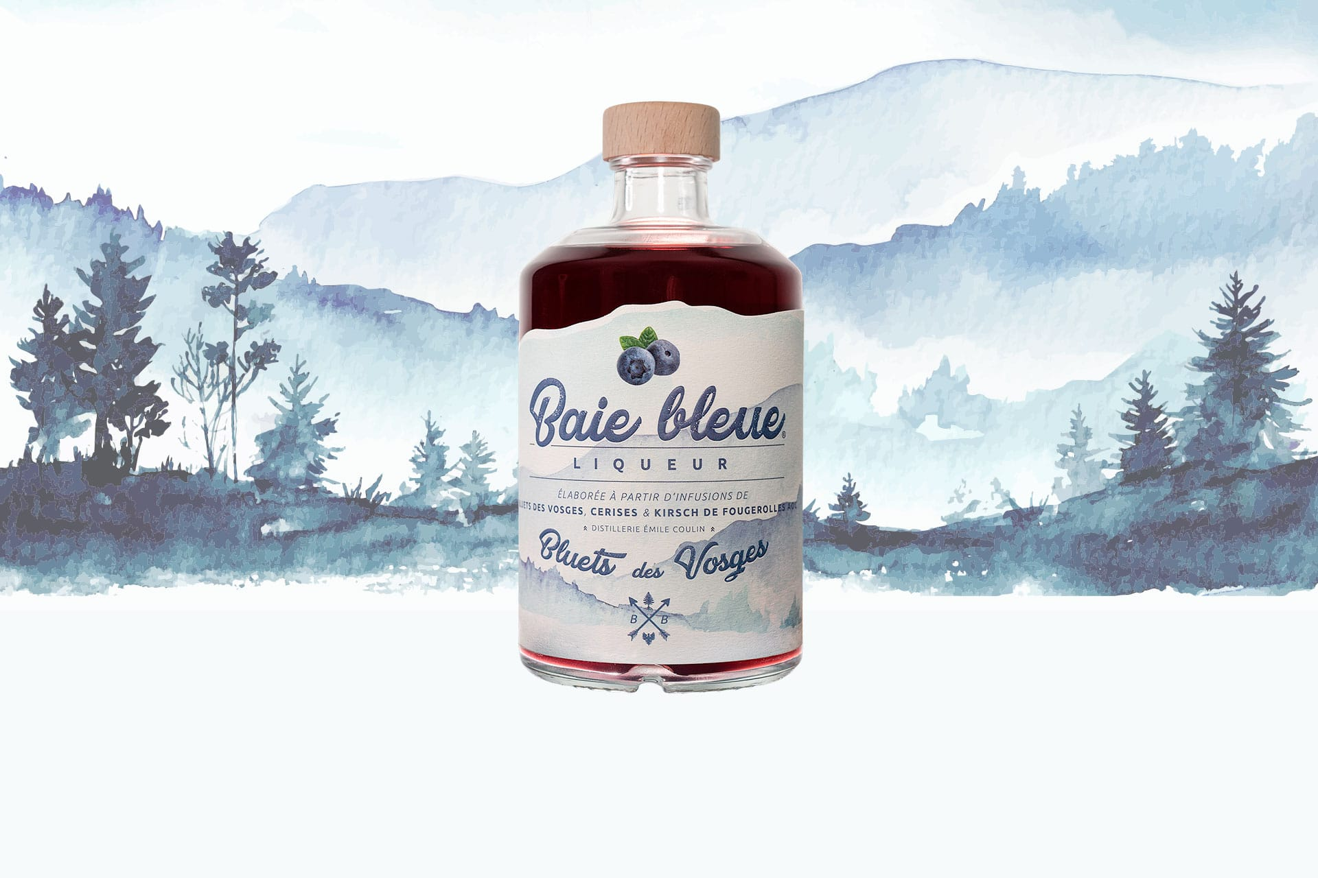 Blueberry liqueur made from Vosges blueberries