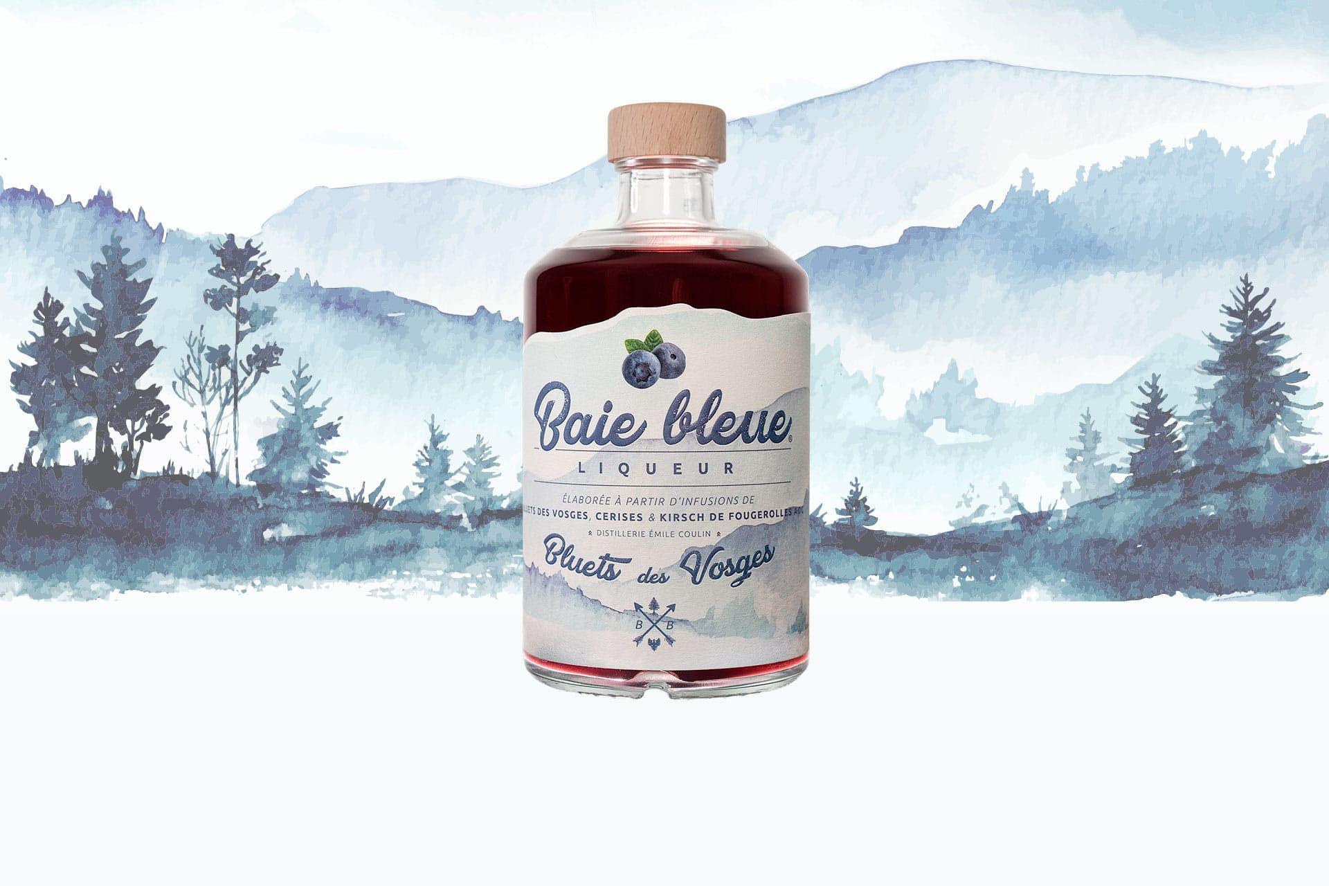 Liqueur de myrtilles élaborée à partir de bluets des Vosges