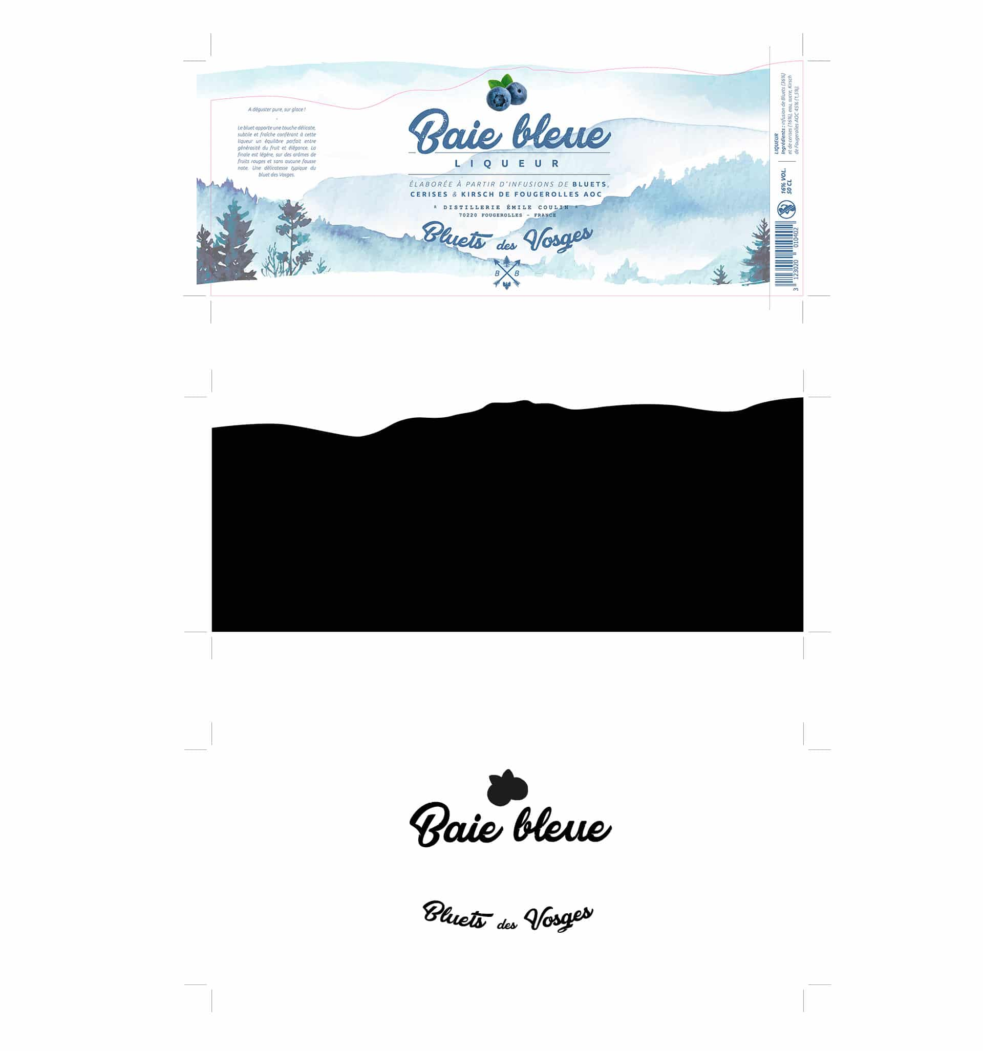 Redesign of the Blue Bay label