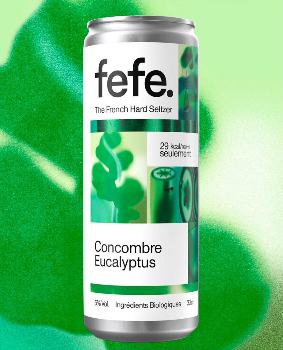 Fefe - Concombre eucalyptus - hard seltzer français