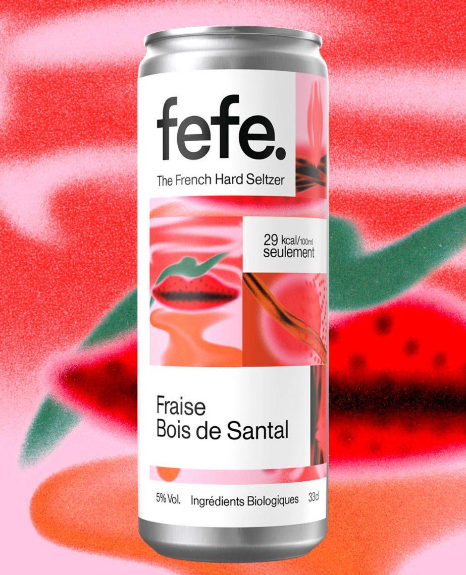 Fefe - Fraise, bois de santal - hard seltzer français