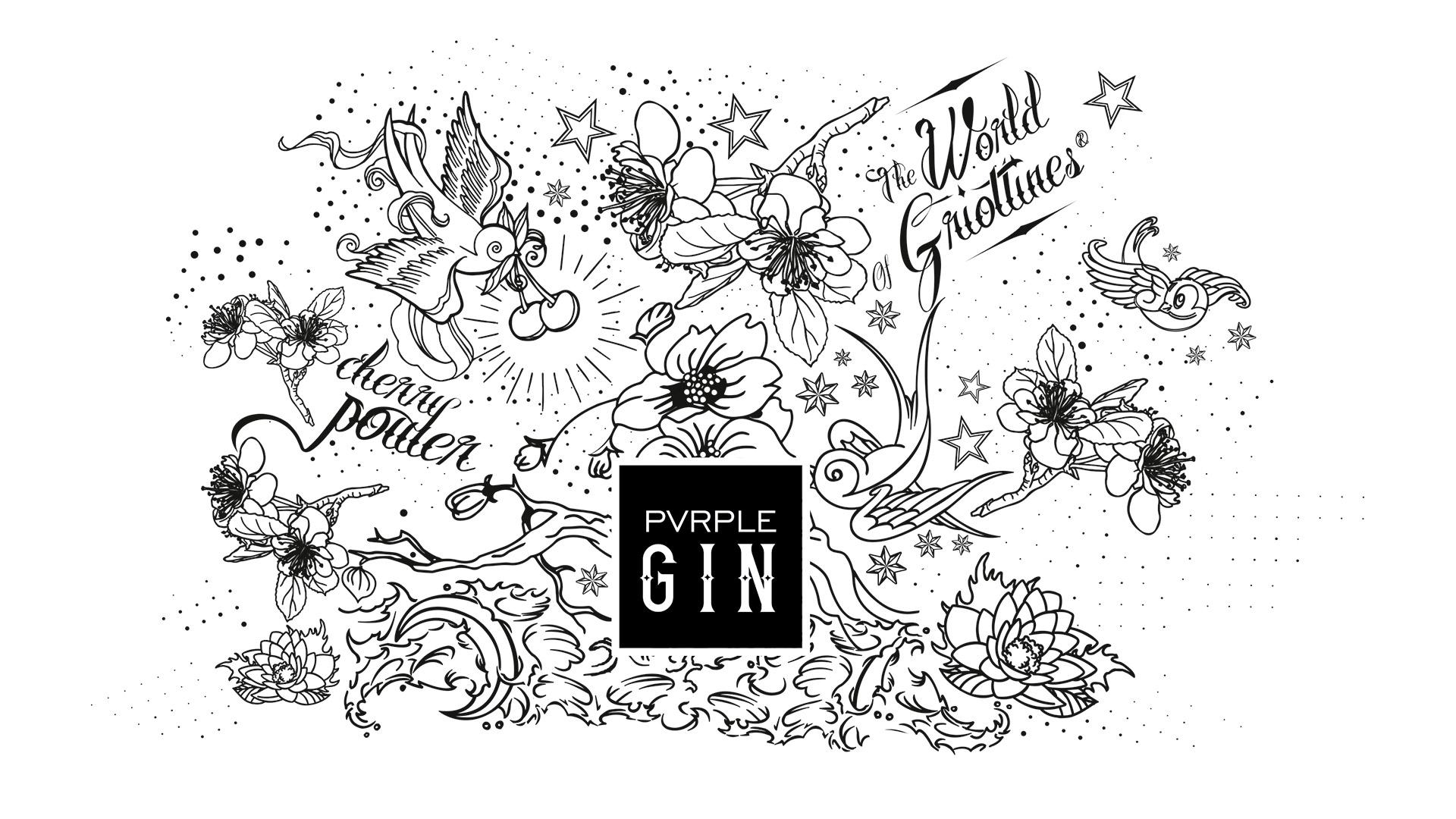 graphic design Pvrple Gin