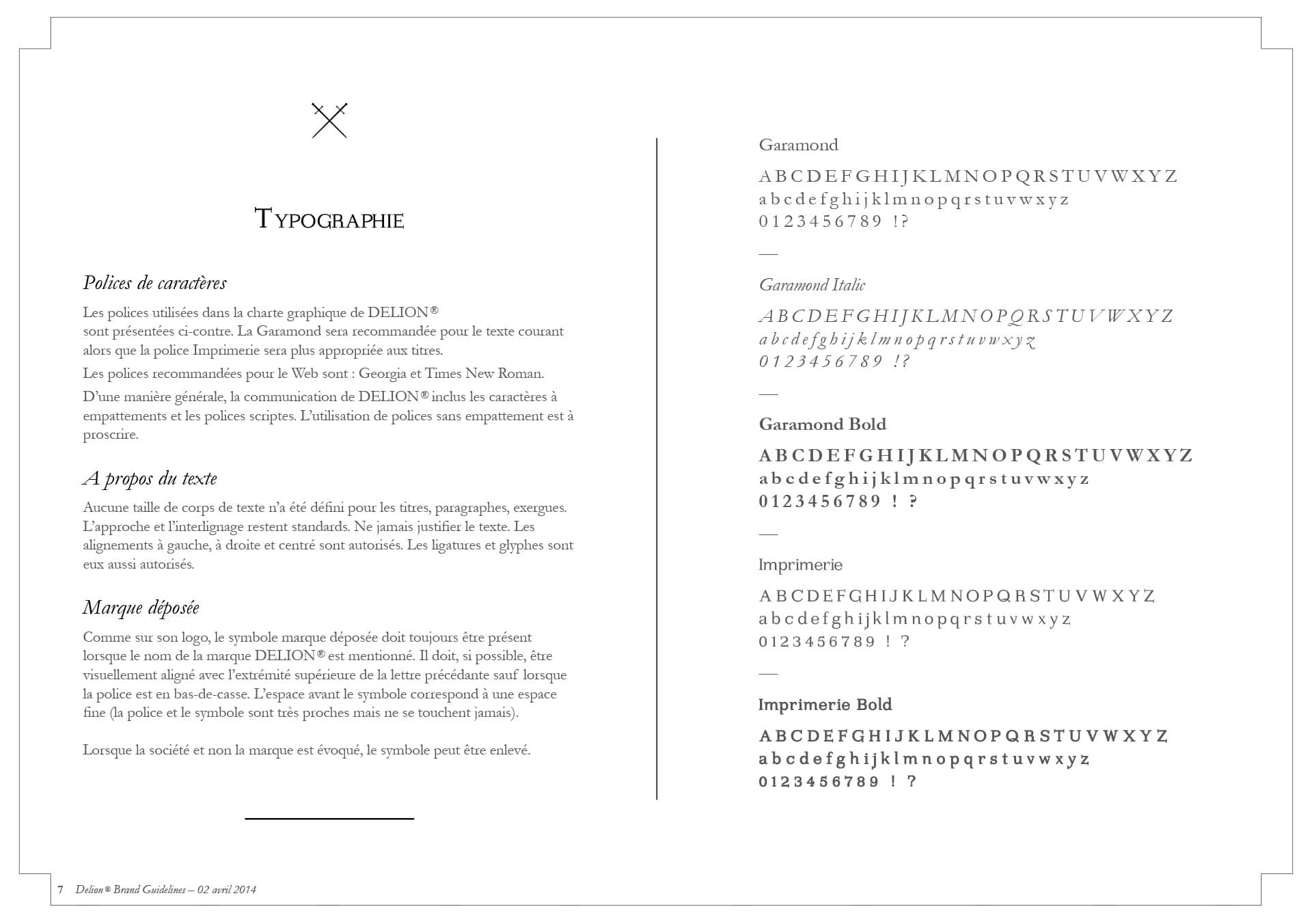 Visual and typographic identity