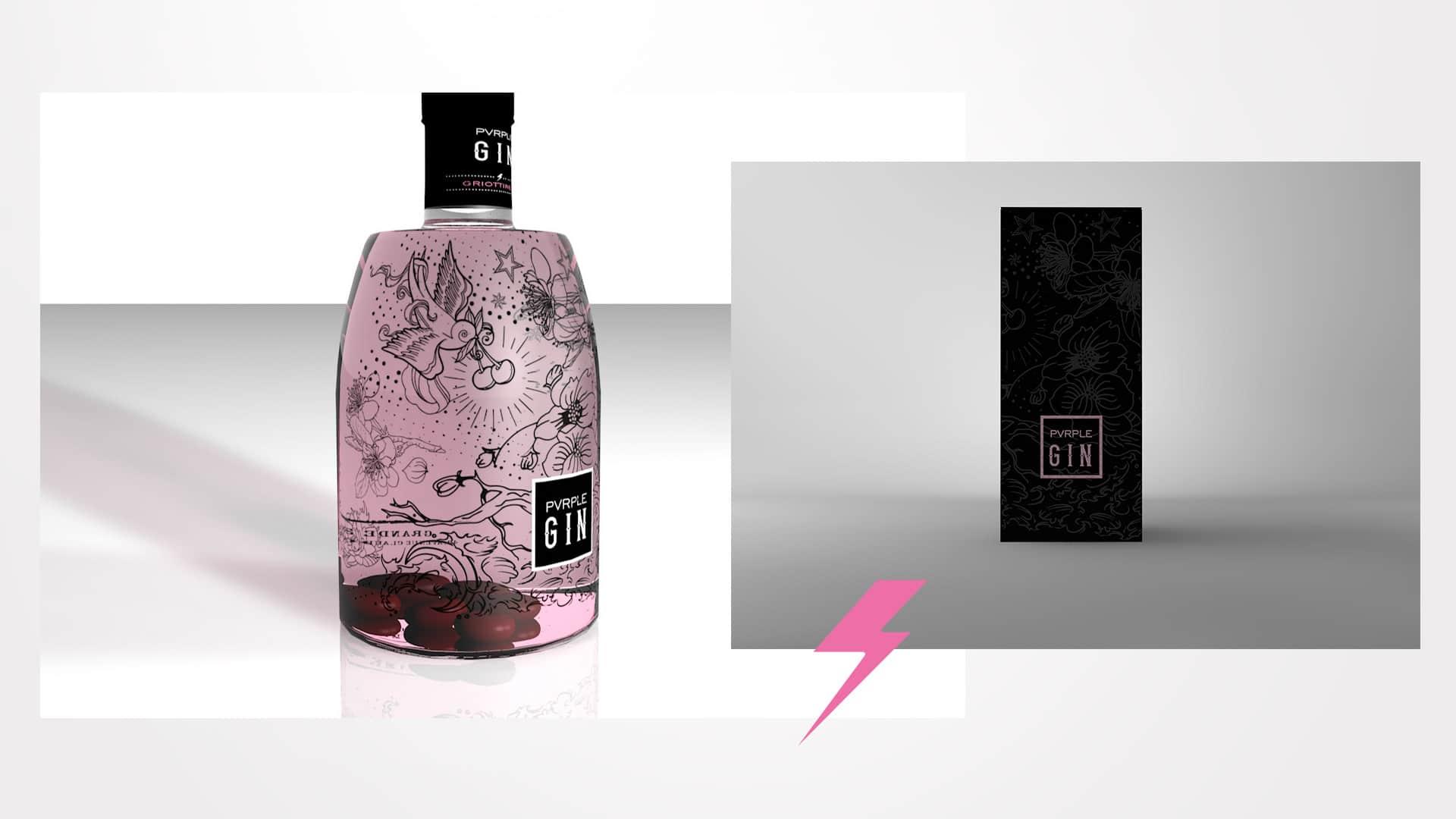 Modelisation packaging Pvrple Gin