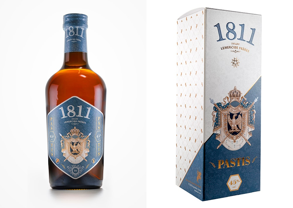 Packaging design apéritif Pastis 1811