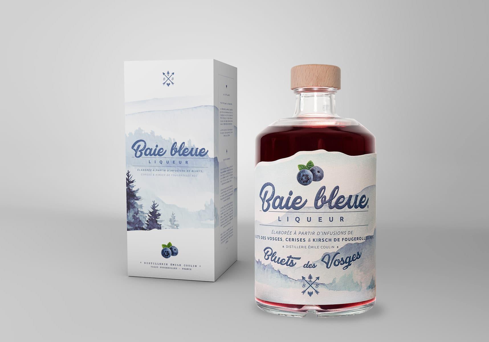 Gamme Liqueur Baie Bleue, liqueur de myrtilles