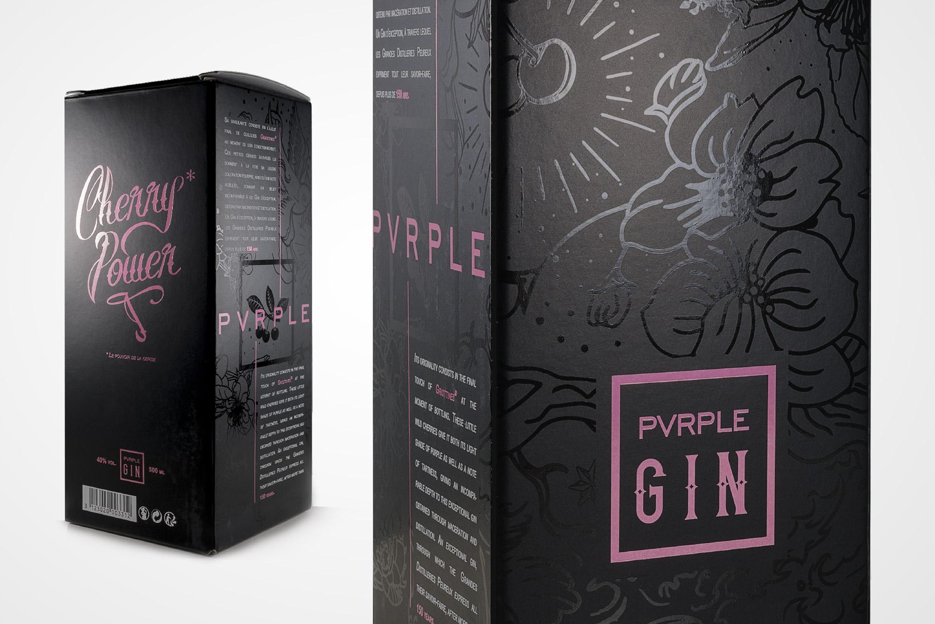 Packaging design Pvrple Gin