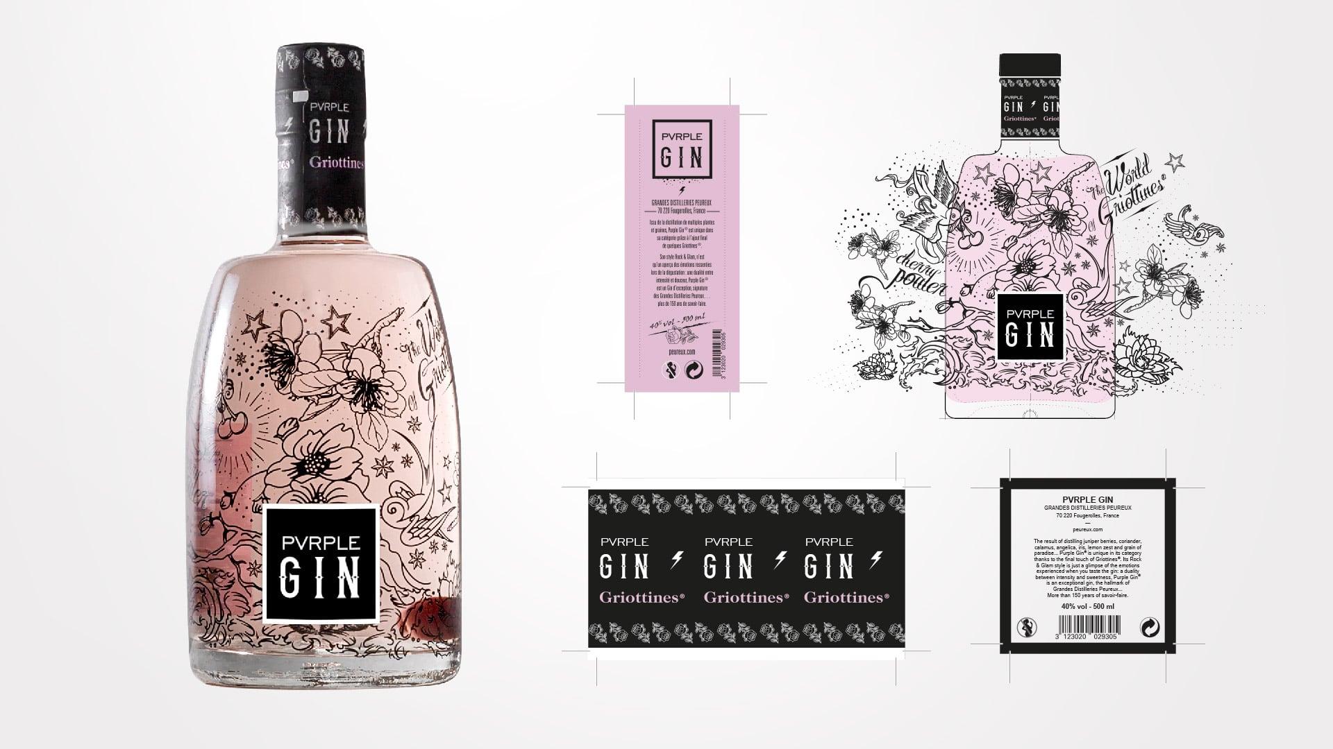 Design Bottle Pvrple Gin