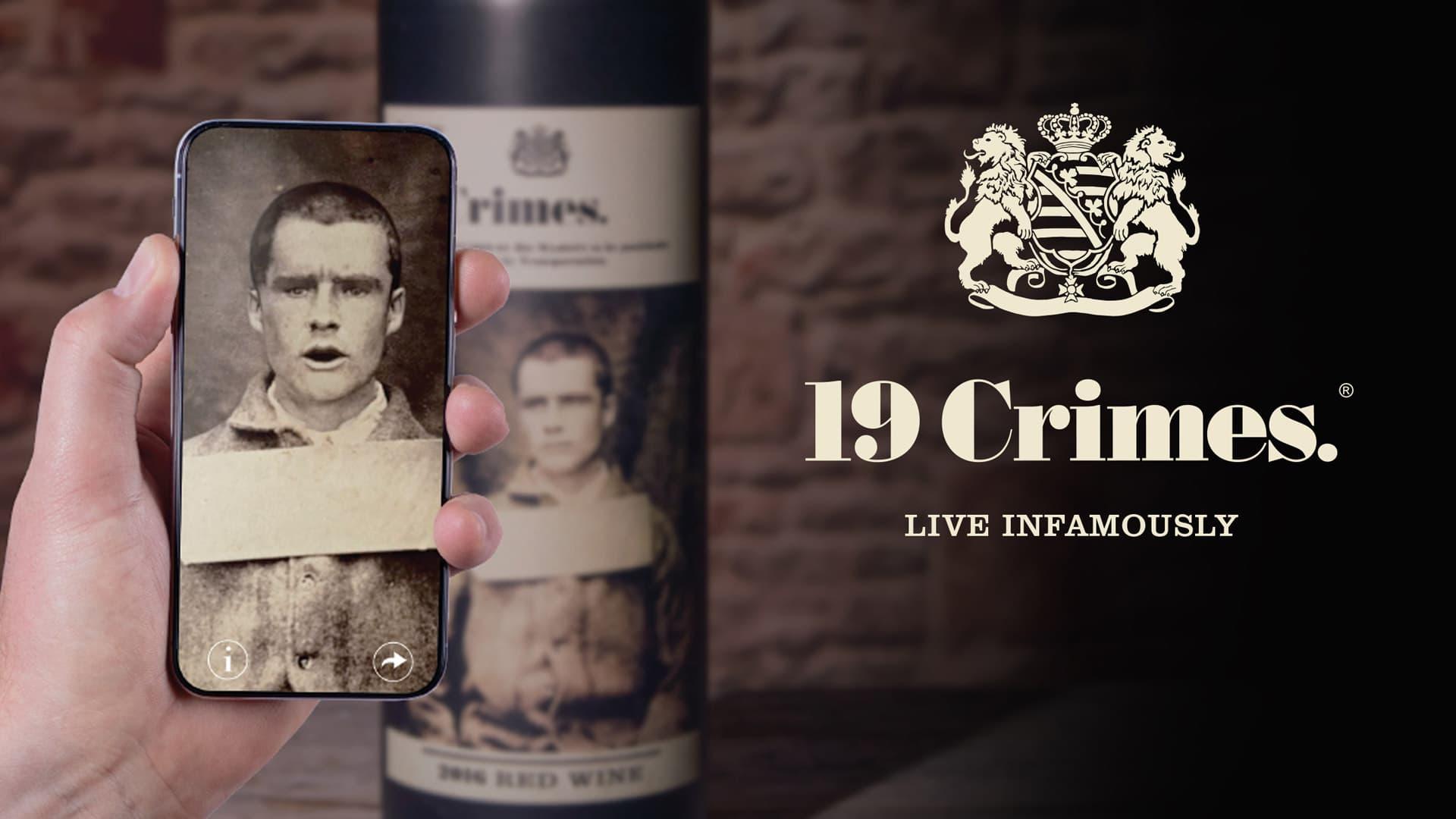 Utilisation de la réalité augmentée sur les vins australiens 19 Crimes de Treasury Wines