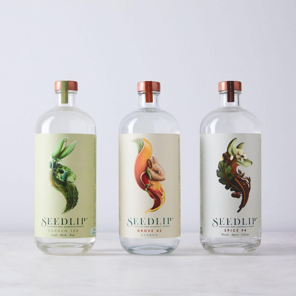 Packaging design des 3 bouteilles Seedlip