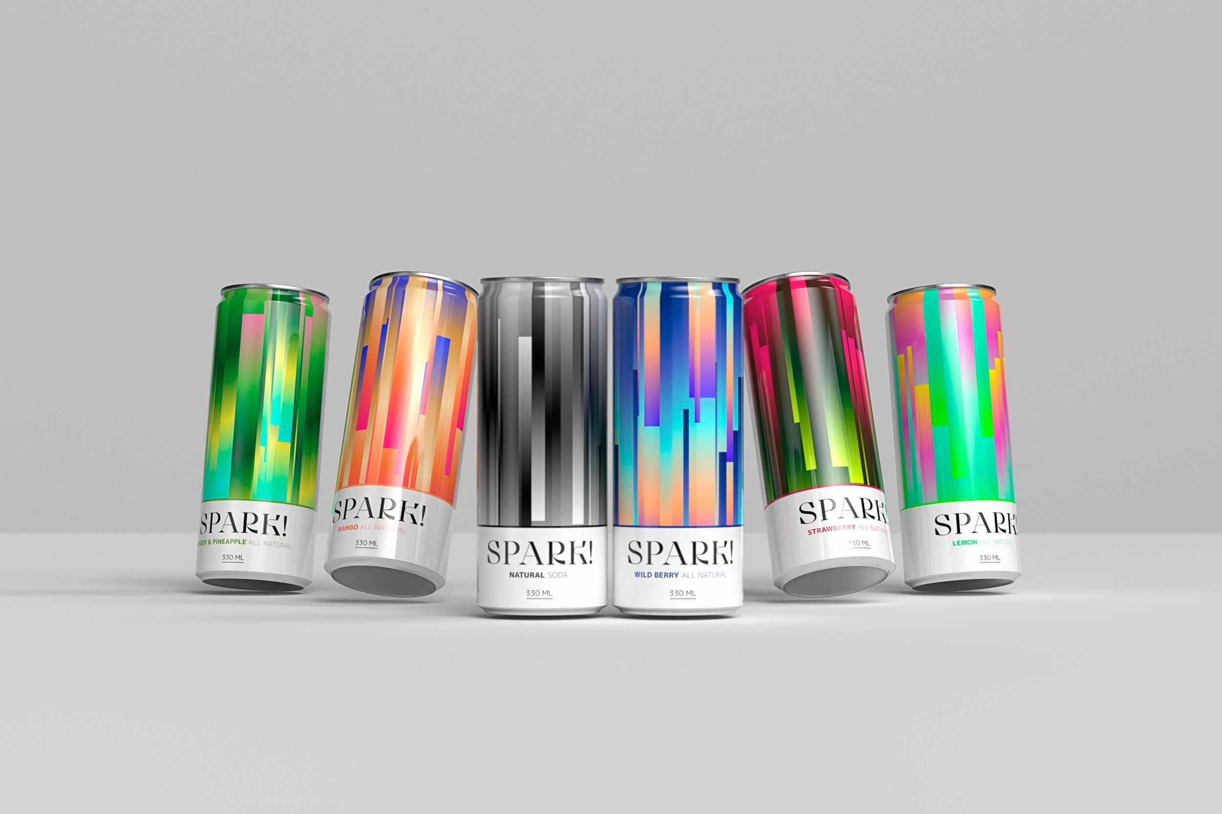 Spark range! 6 cans, 6 flavors!