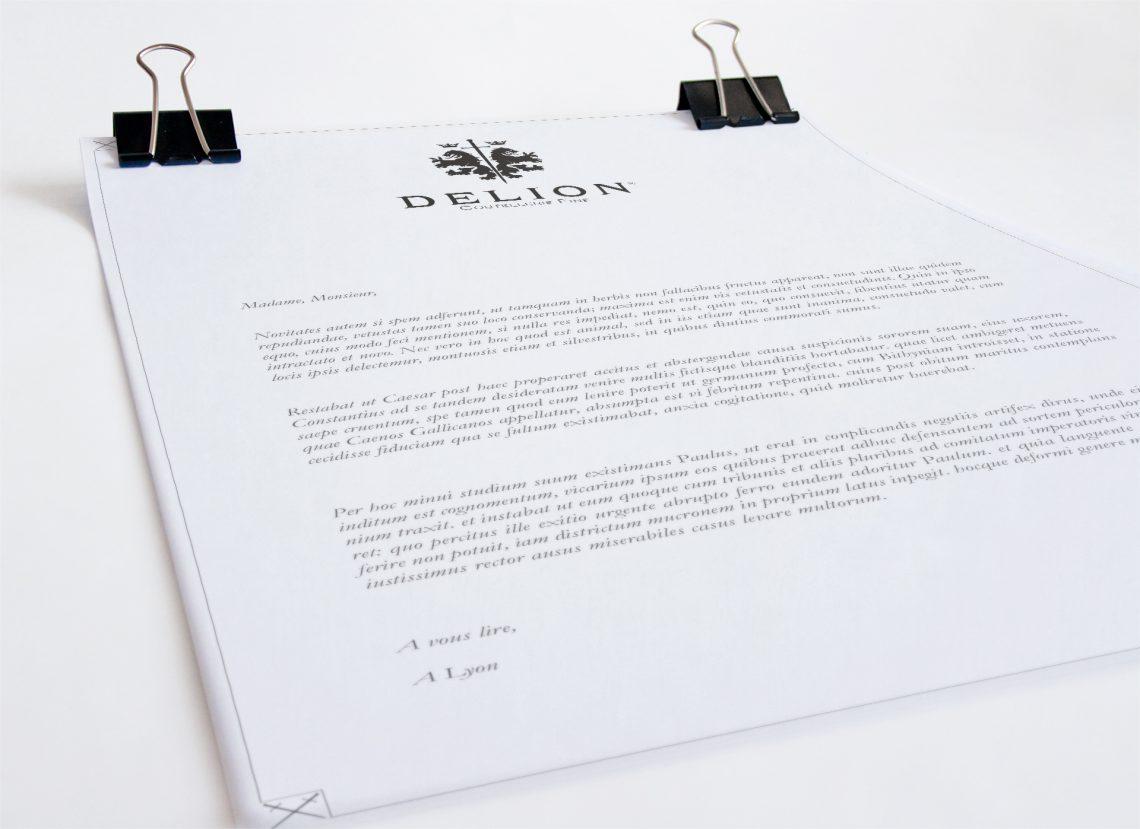 Tête de lettre Delion - Charte graphique