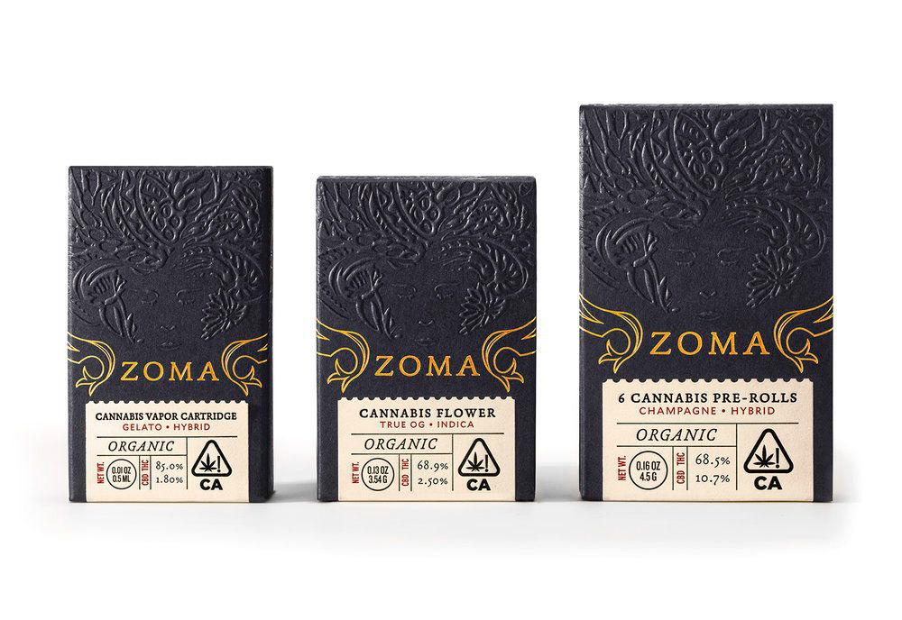 Zoma, Packaging de cannabis